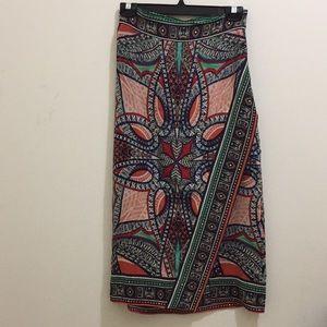 Maeve silk printed skirt (sz 0p)